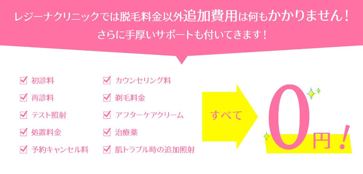 レジーナクリニック0円設定